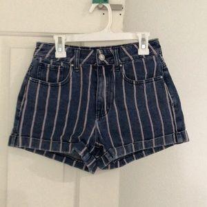 striped pacsun shorts!